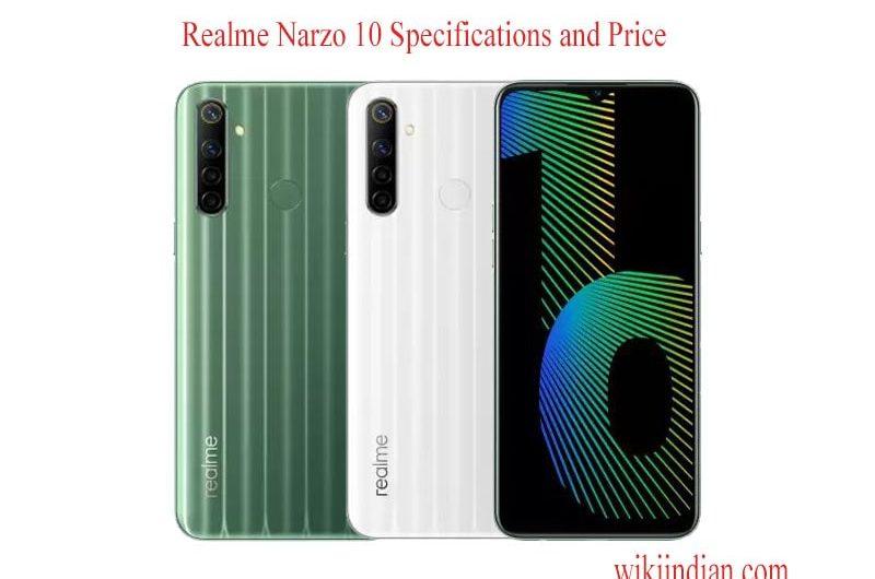 Realme Narzo 10 mobile Specifications price